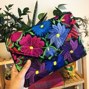 EMBROIDERED clutch from Mexico City!!!